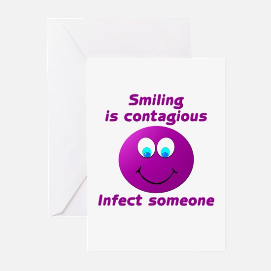 Smiling is contagious #5 Greeting Cards (Pk of 10)