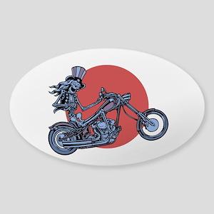 Skeleton Rider III Oval Sticker