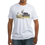 Audubon Caribou Reindeer Animal (Front) Fitted T-S