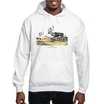 Audubon Caribou Reindeer Animal Hooded Sweatshirt