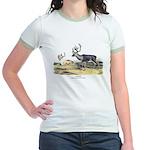 Audubon Caribou Reindeer Animal Jr. Ringer T-Shirt