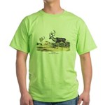 Audubon Caribou Reindeer Animal (Front) Green T-Sh