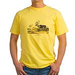 Audubon Caribou Reindeer Animal Yellow T-Shirt