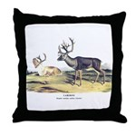 Audubon Caribou Reindeer Animal Throw Pillow