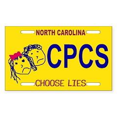 Choose Lies Sticker -- North Carolina