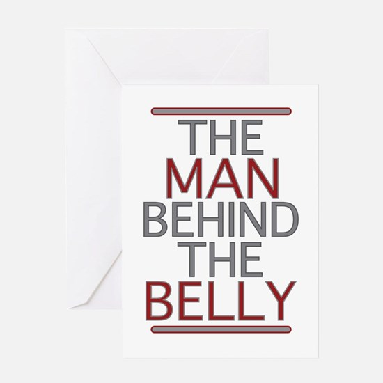The Man Behind The Belly Greeting Card
