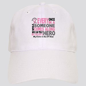 HERO Comes Along 1 Sister BREAST CANCER Cap
