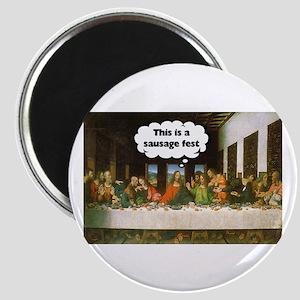 Last Supper - Sausage Fest Magnet