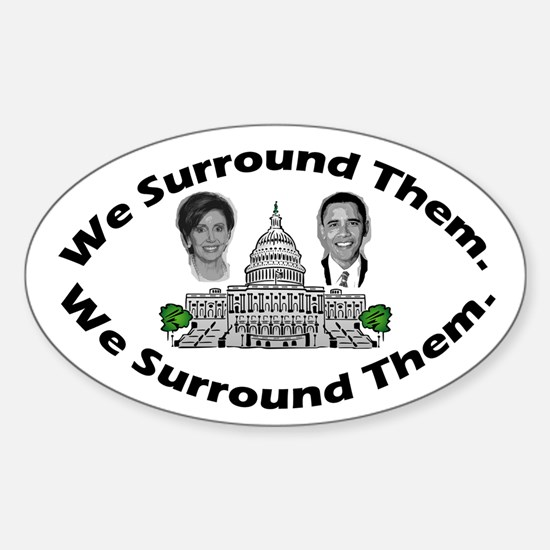 The 9-12 Project - We Surround Them Oval Decal