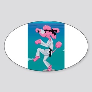 Kung Foo Poo Oval Sticker