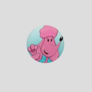 Pink Poodle Mini Button
