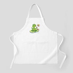 Logan the frog BBQ Apron