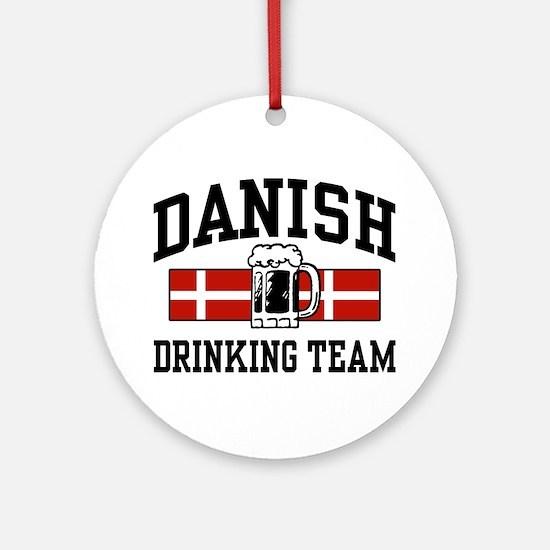 Danish Drinking Team Ornament (Round)