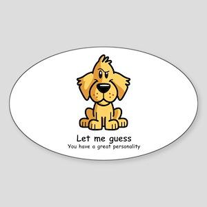 Aspen Doodle Sticker (Oval)