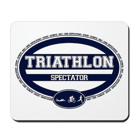 Triathlon Oval - Women's Spectator Mousepad