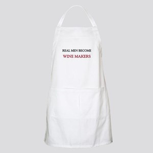 Real Men Become Wine Makers BBQ Apron