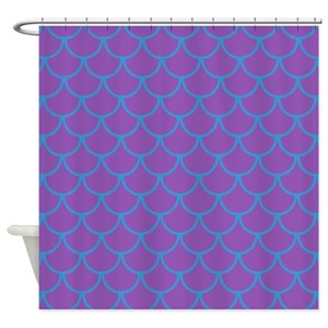 Purple Mermaid Shower Curtains