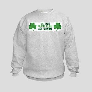 Boca Raton lucky charms Kids Sweatshirt