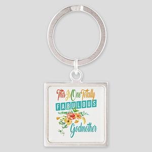 Fabulous Godmother Square Keychain
