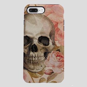 Vintage Rosa Skull Collage iPhone 7 Plus Tough Cas