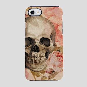 Vintage Rosa Skull Collage iPhone 7 Tough Case