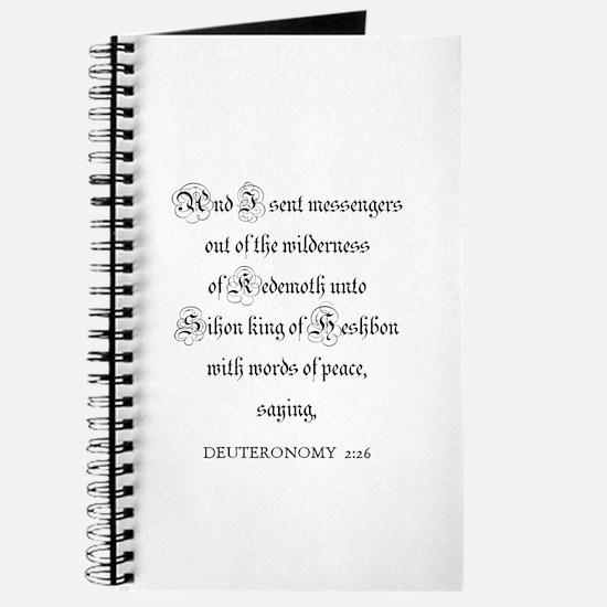 DEUTERONOMY 2:26 Journal
