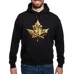 Canada Hoodie Dark Gold Chrome Maple Leaf Hoodie