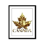 Gold Canada Souvenir Framed Panel Print