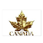 Gold Canada Souvenir Postcards (Package of 8)