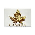 Canada Fridge Magnet 10 pack Gold Leaf Souvenir