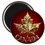 Metal Canada Fridge Magnet Cool Gold Metallic Gift