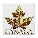 Canada Coasters Gold Maple Leaf Souvenir Coasters
