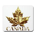 Canada Mousepad Gold Maple Leaf Souvenir