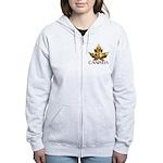 Canada Women's Hoodie Gold Chrome Leaf Hoodies