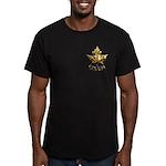 Men's Canada Fitted Dark T-Shirt Chrome Maple Leaf