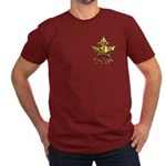 Men's Canada Fitted Dark T-Shirt Chrome Maple Leaf