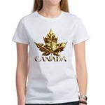 Canada Women's T-Shirt Gold Maple Leaf T-shirt