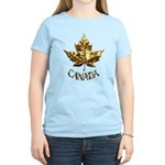 Canada Women's Light T-Shirt Gold Maple Leaf