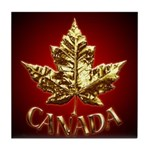 Canada Souvenir Coaster Gold Maple Leaf Coaster