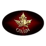 Canada Sticker 10 pk Gold Maple Leaf Art Stickers