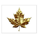 Canada Maple Leaf Small Poster Gold Art Posters