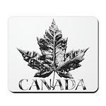 Cool Canada Mousepad Chrome Maple Leaf Art