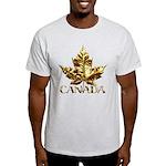 Canada Light T-Shirt Gold Chrome Maple Leaf Tshirt