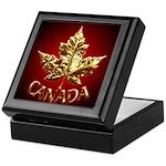Canada Keepsake Box Chrome Maple Leaf Art