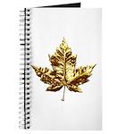 Canada Journal Notebook Gold Maple Leaf Book