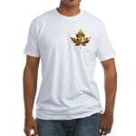 Metal Canada Fitted T-Shirt Gold Maple Leaf Tees