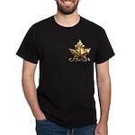 Canada Dark T-Shirt Gold Chrome Maple Leaf