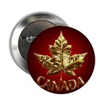 Canada Button 10 pack Gold Maple Leaf Buttons