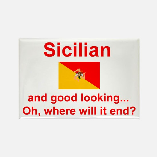 Good Looking Sicilian Rectangle Magnet