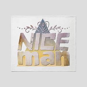 Nice man Throw Blanket